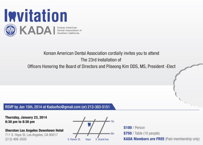 Installation 2014-2015 - Korean American Dental Association